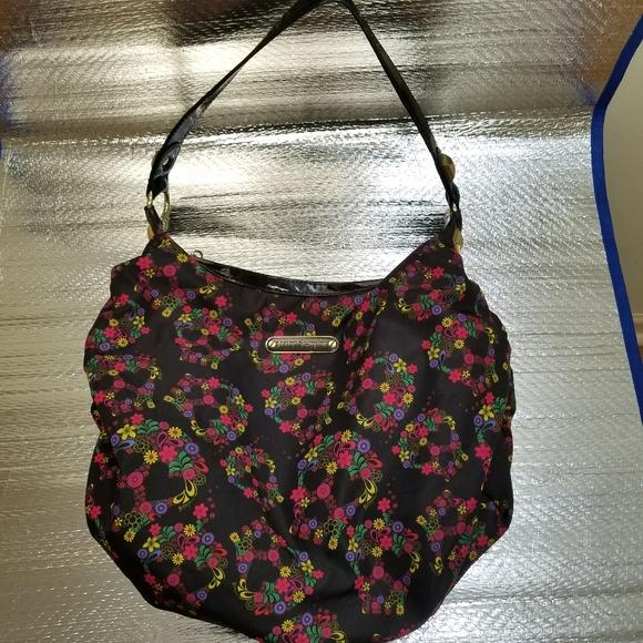 Betsey Johnson Handbags - Betsy Johnson multicolor floral skull handbag